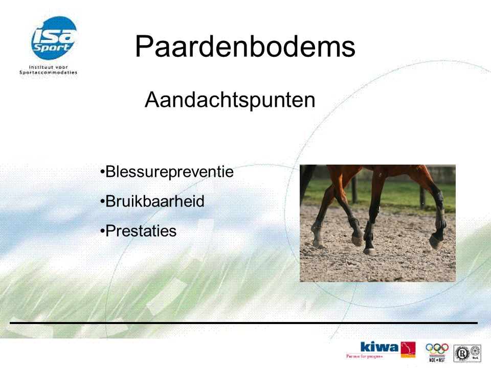 Aandachtspunten Blessurepreventie Bruikbaarheid Prestaties Paardenbodems