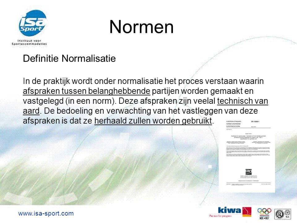 Definitie Normalisatie In de praktijk wordt onder normalisatie het proces verstaan waarin afspraken tussen belanghebbende partijen worden gemaakt en v