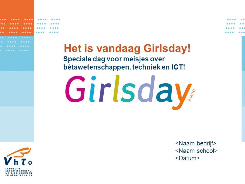 Het is vandaag Girlsday! Speciale dag voor meisjes over bètawetenschappen, techniek en ICT!