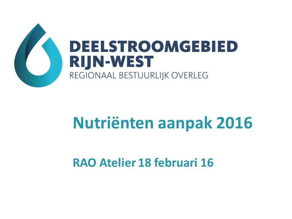 Nutriënten aanpak 2016 RAO Atelier 18 februari 16
