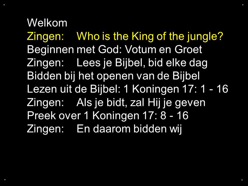 ....Psalm 8, Heer onze Heer Heer, onze Heer, hoe machtig is uw naam op heel de aarde.
