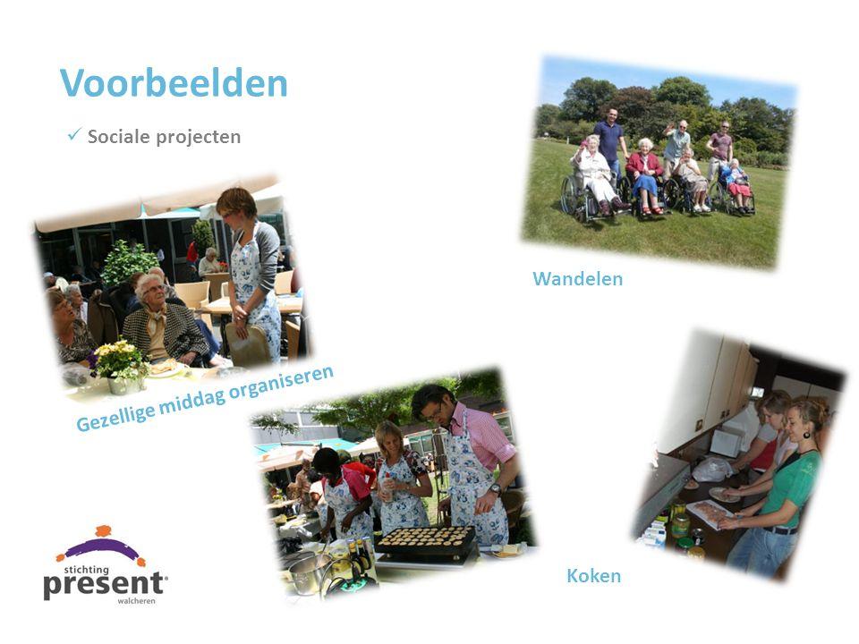 Wandelen Koken Voorbeelden Sociale projecten Gezellige middag organiseren