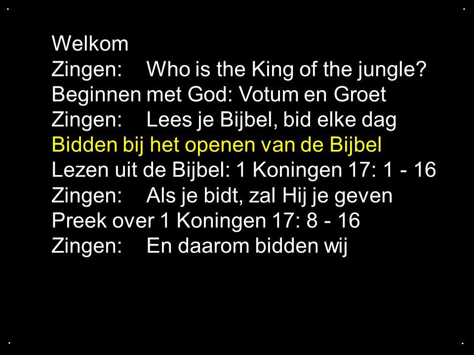 ....Zingen: En daarom bidden wij Gebedspunten Gebed: Lofprijzing, danken en belijden Zingen: Heer.