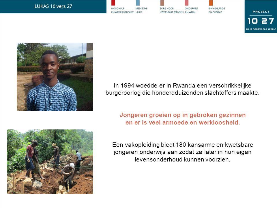 In 1994 woedde er in Rwanda een verschrikkelijke burgeroorlog die honderdduizenden slachtoffers maakte.