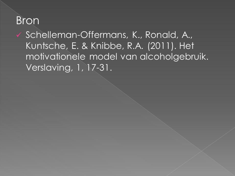 Bron Schelleman-Offermans, K., Ronald, A., Kuntsche, E.
