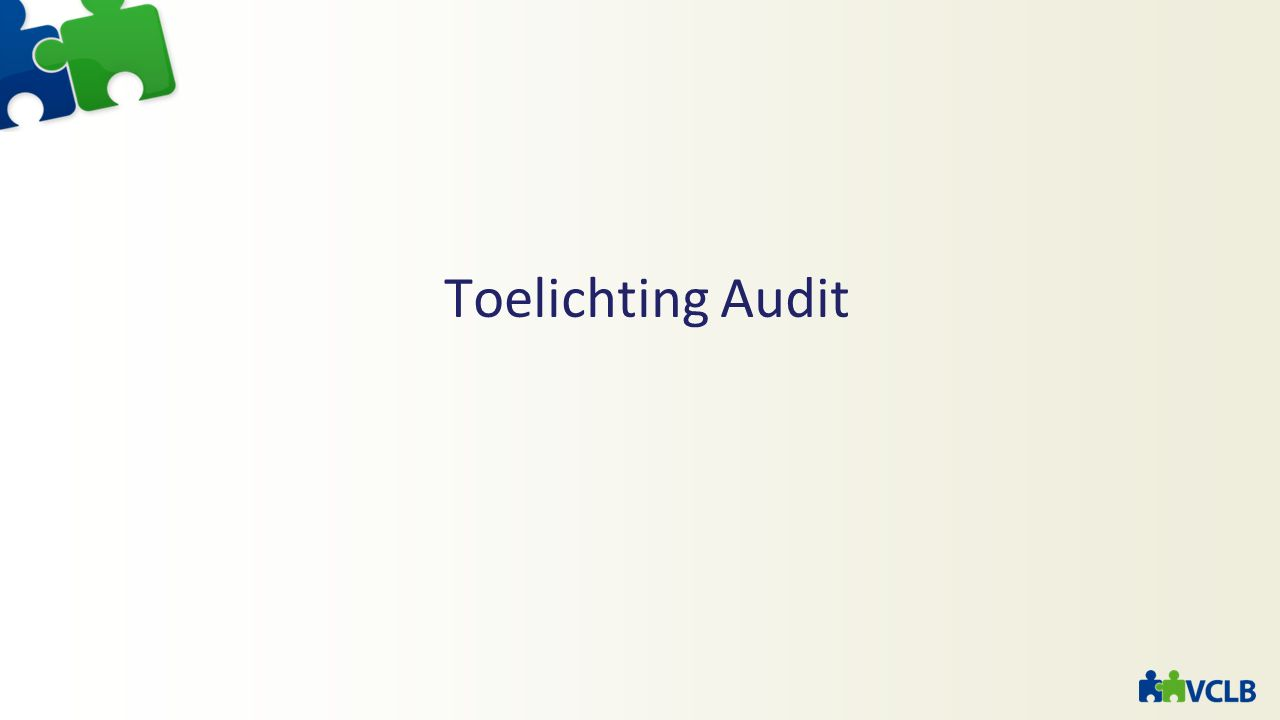 Toelichting Audit