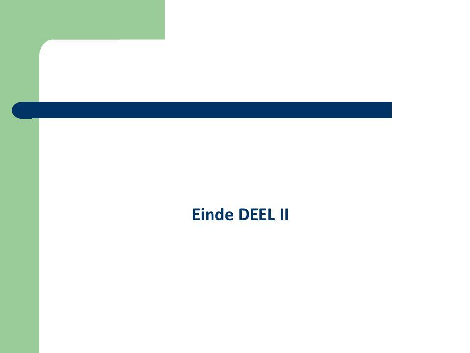 Einde DEEL II