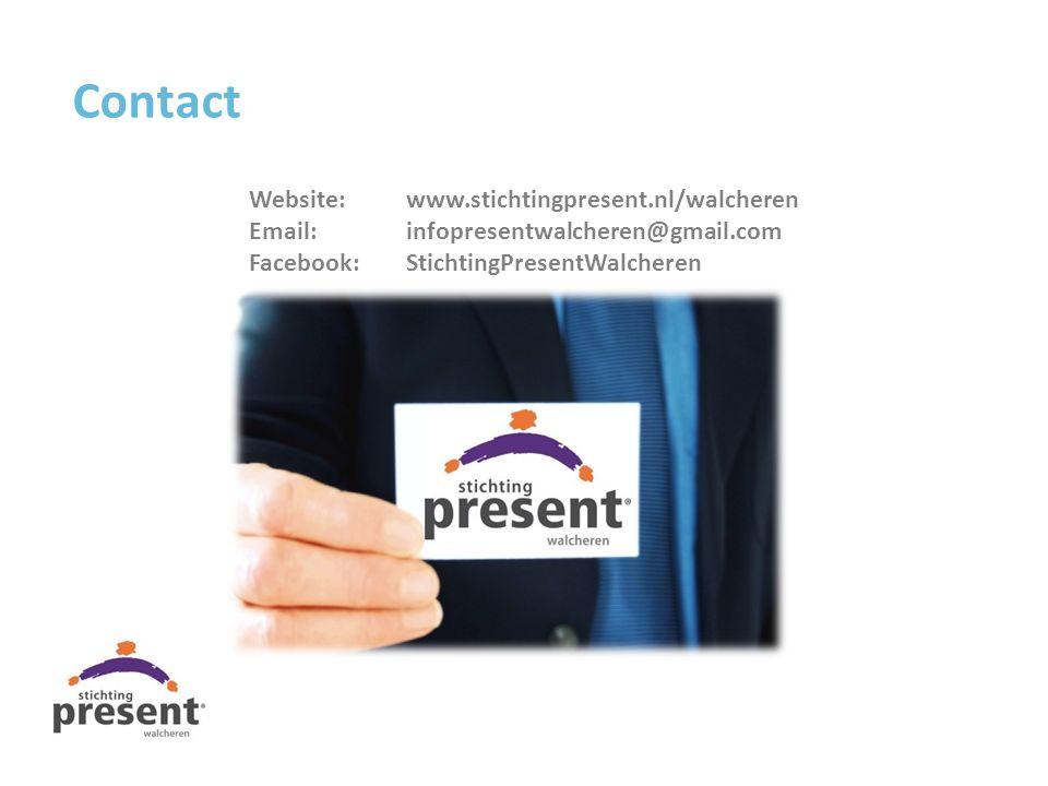 Contact Website:www.stichtingpresent.nl/walcheren Email:infopresentwalcheren@gmail.com Facebook:StichtingPresentWalcheren