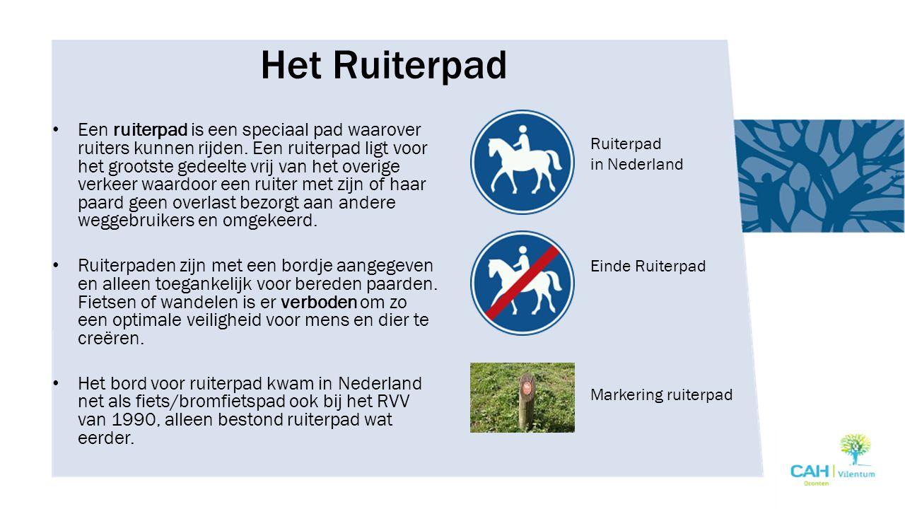 Het Menpad Menpaden zijn voor aangespannen paarden (paard en wagen).
