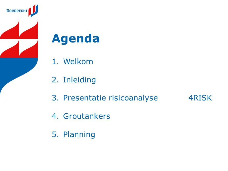 Agenda 1.Welkom 2.Inleiding 3.Presentatie risicoanalyse4RISK 4.Groutankers 5.Planning