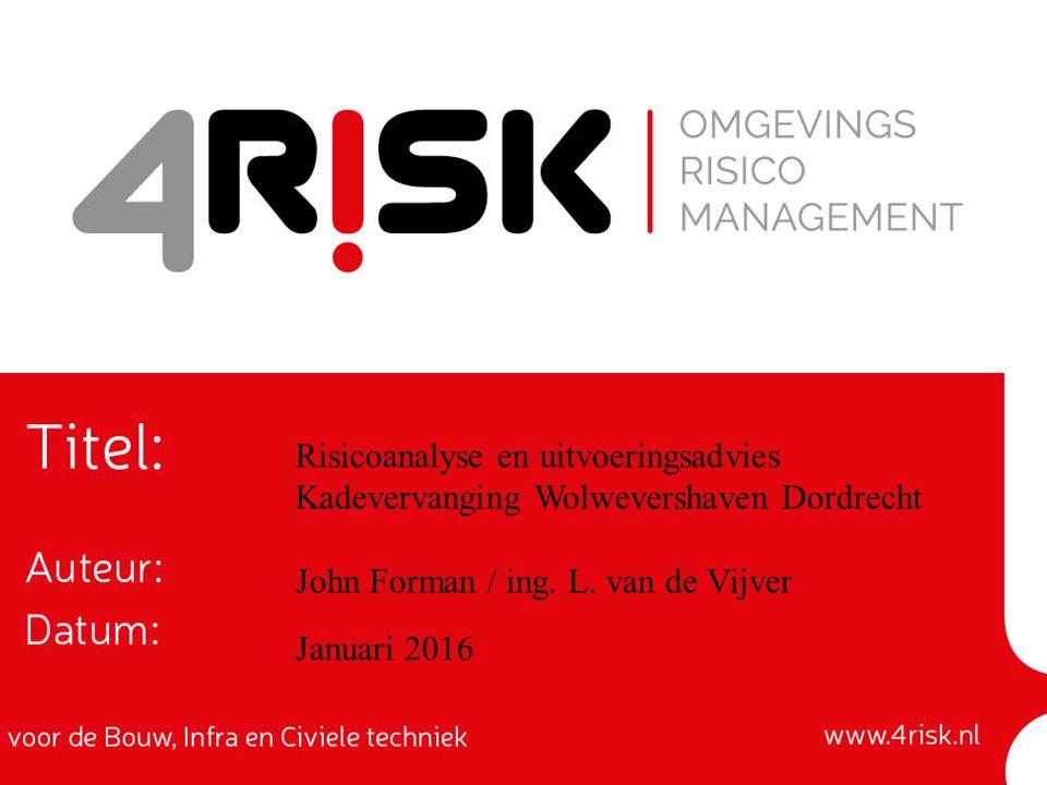 Risicoanalyse en uitvoeringsadvies Kadevervanging Wolwevershaven Dordrecht John Forman / ing.