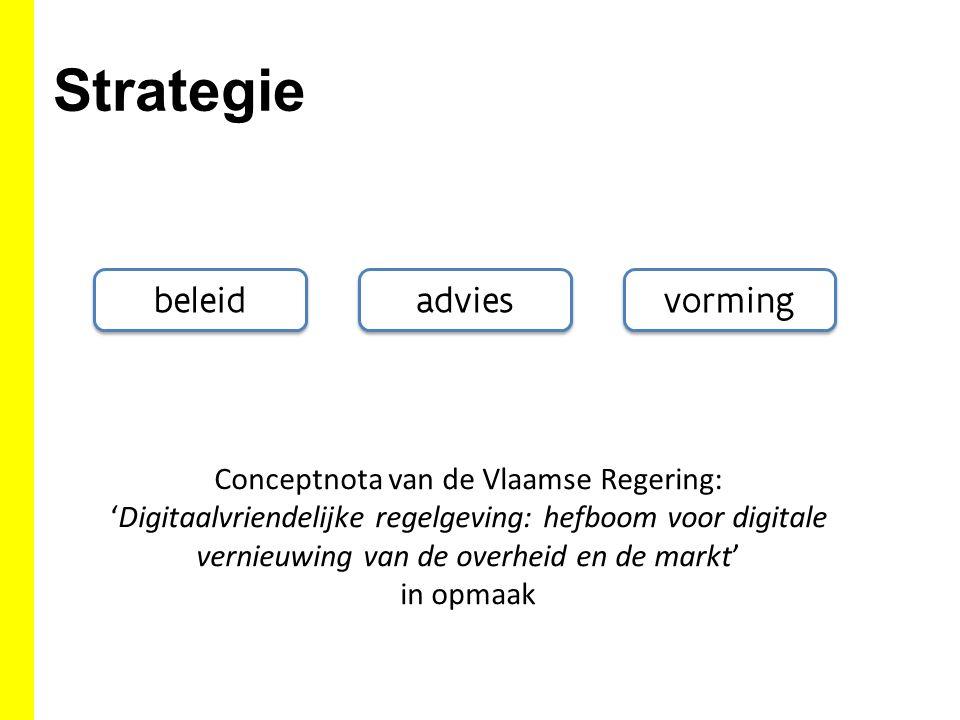 Strategie beleid vorming advies Conceptnota van de Vlaamse Regering: 'Digitaalvriendelijke regelgeving: hefboom voor digitale vernieuwing van de overh