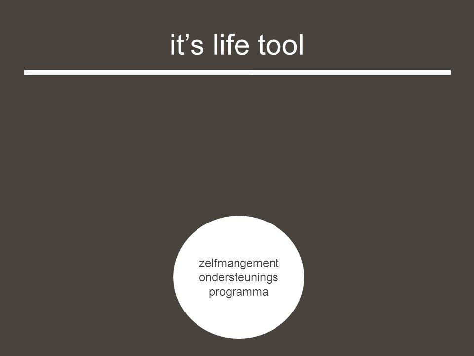 it's life tool zelfmangement ondersteunings programma