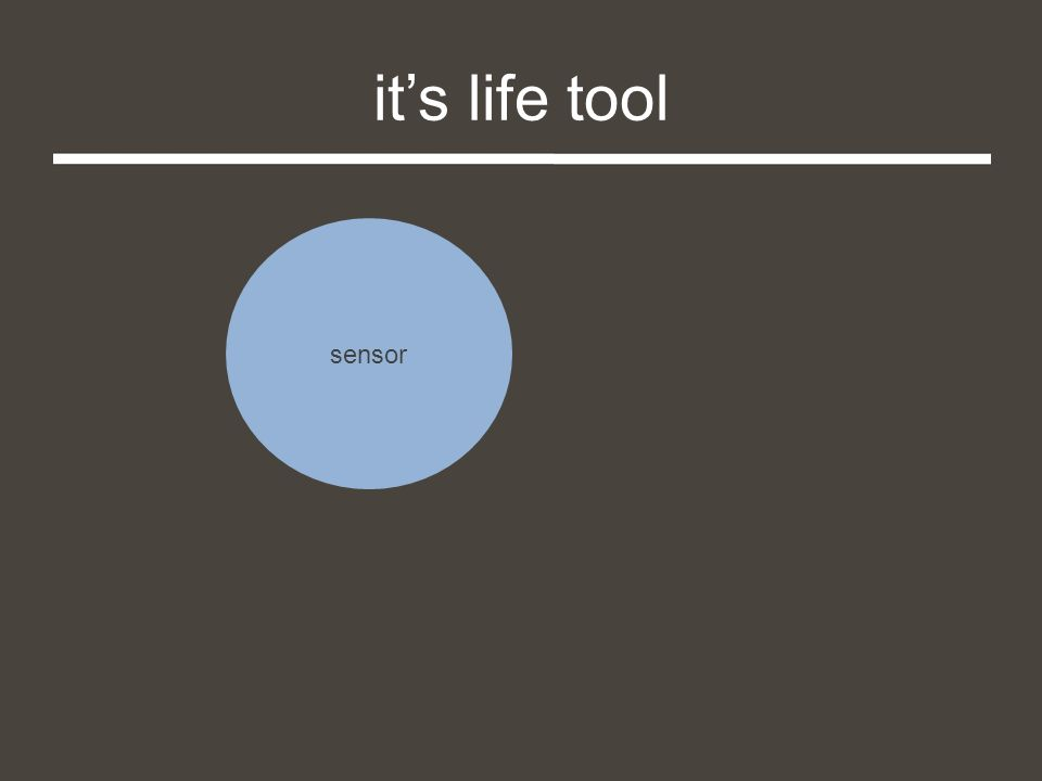 it's life tool sensor