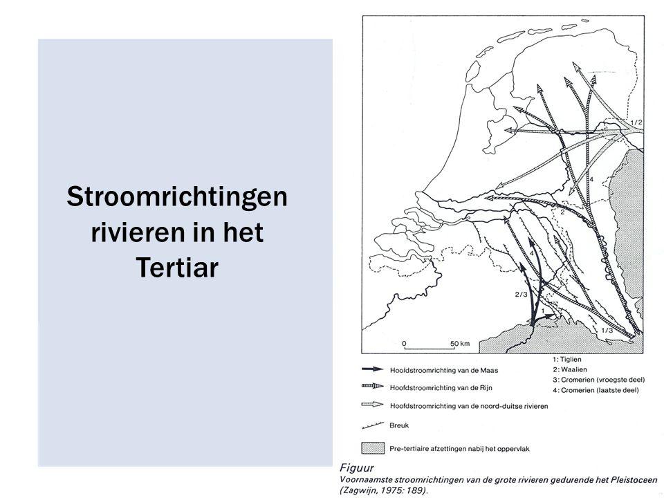 Stroomrichtingen rivieren in het Tertiar