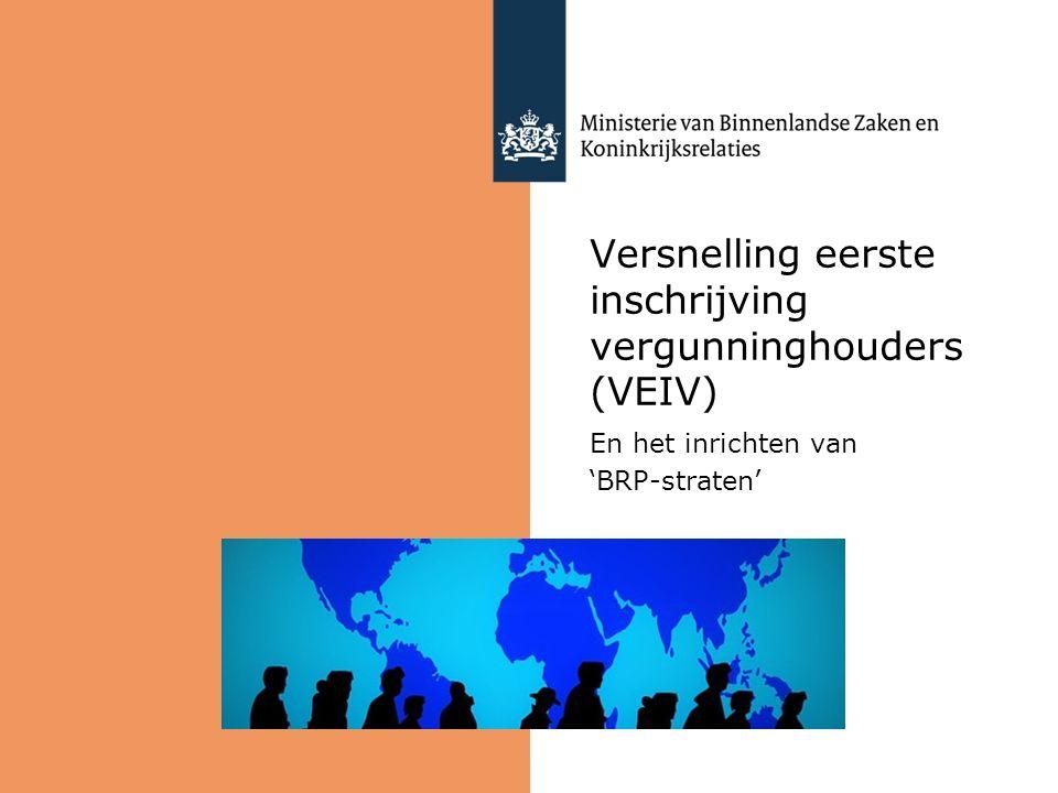 Versnelling eerste inschrijving vergunninghouders (VEIV) En het inrichten van 'BRP-straten'