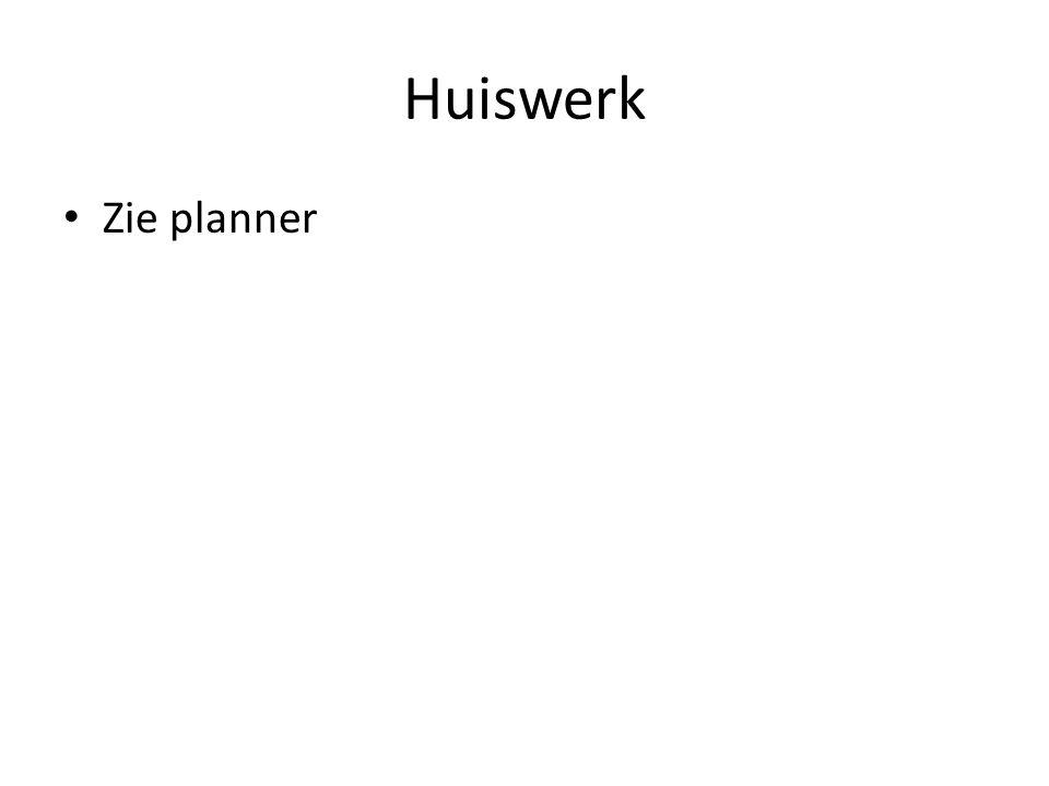 Huiswerk Zie planner