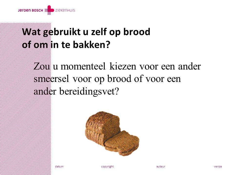 datumcopyrightauteurversie Wat gebruikt u zelf op brood of om in te bakken.
