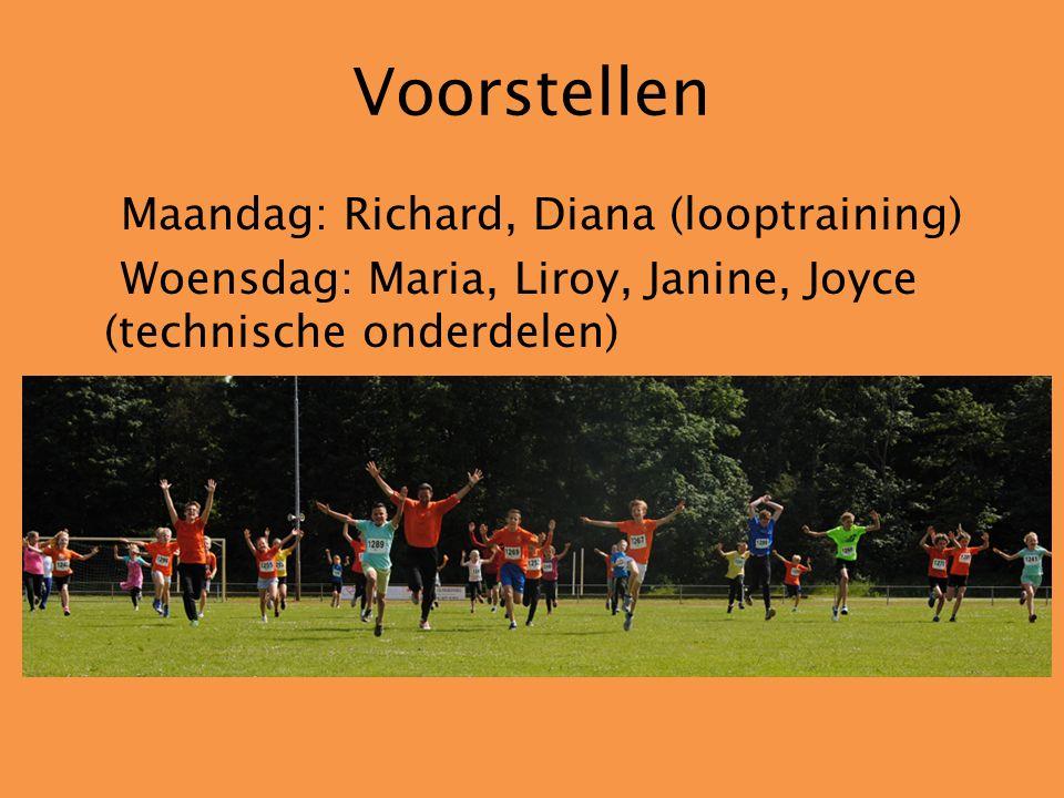 Training Kleding Kinderen minimaal 5 minuten vooraf aanwezig Looptraining:maandag19:00 tot 20:30 uur Technisch: woensdag JD 18:30 tot 19:30 uur JC,A,B 19:15 tot 20:30 uur