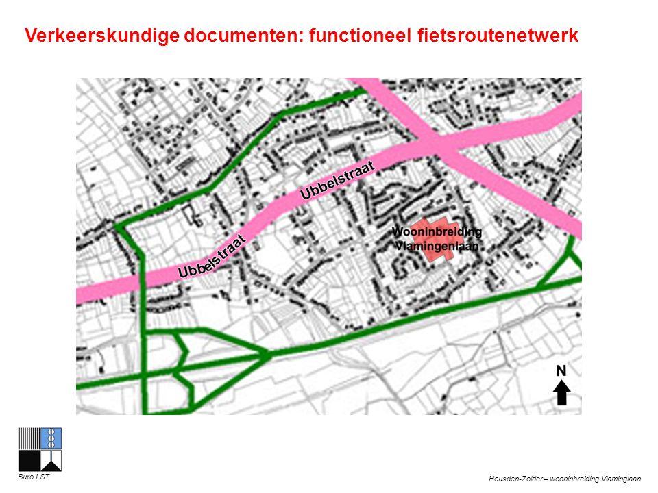 Heusden-Zolder – wooninbreiding Vlaminglaan Buro LST Verkeerskundige documenten: functioneel fietsroutenetwerk