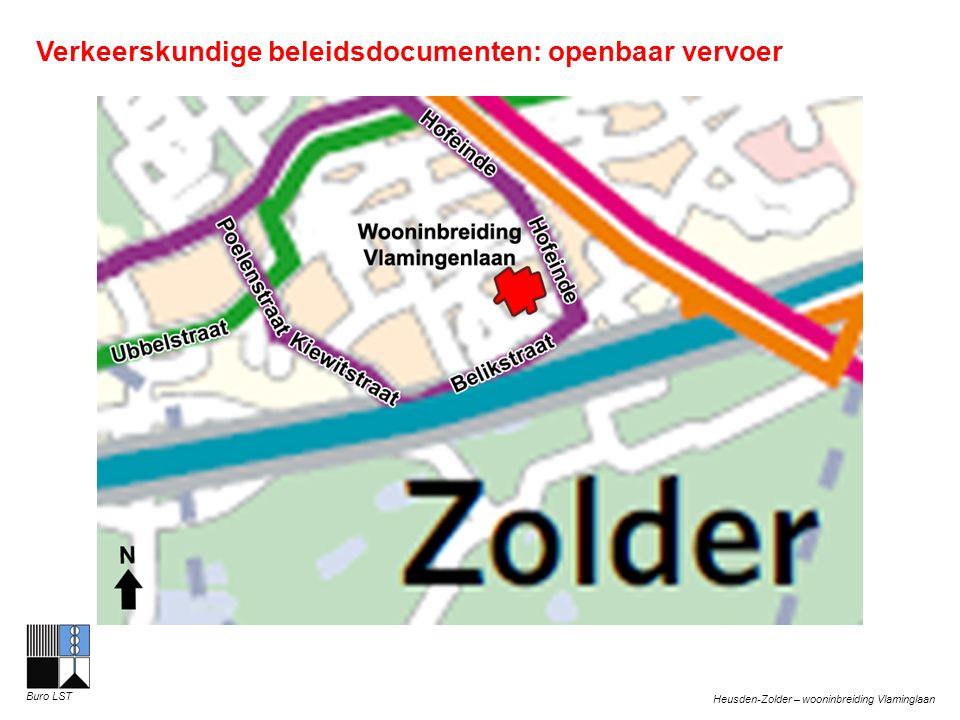 Heusden-Zolder – wooninbreiding Vlaminglaan Buro LST Verkeerskundige beleidsdocumenten: openbaar vervoer