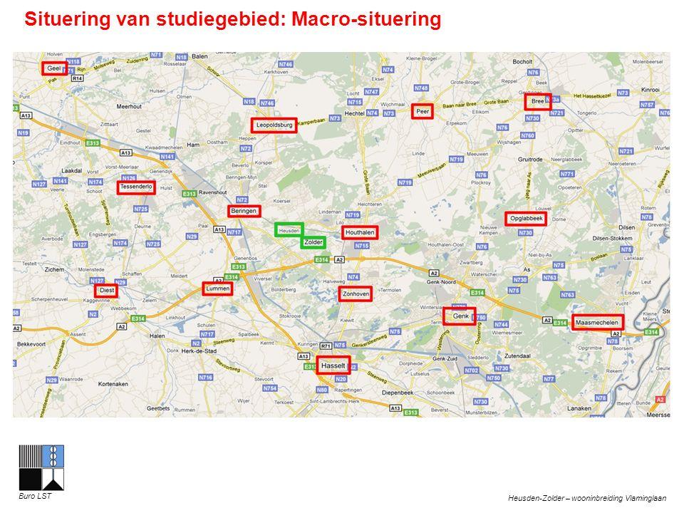 Heusden-Zolder – wooninbreiding Vlaminglaan Buro LST Situering van studiegebied: Macro-situering