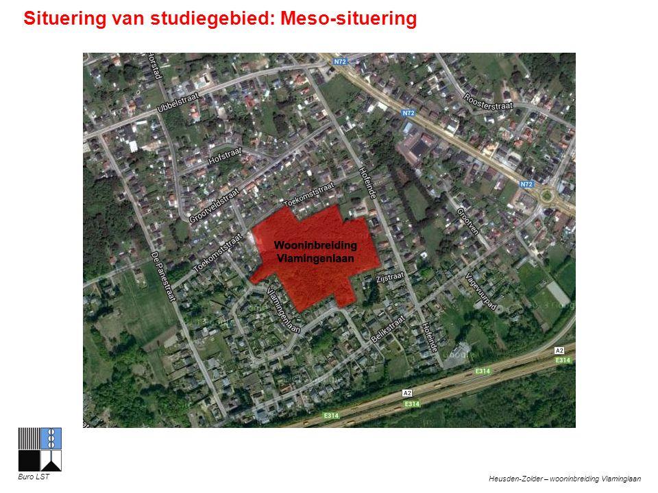 Heusden-Zolder – wooninbreiding Vlaminglaan Buro LST Situering van studiegebied: Meso-situering