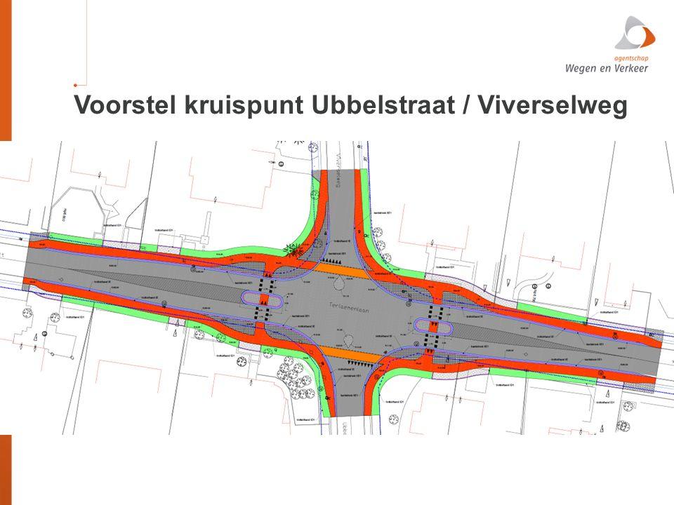 Voorstel kruispunt Ubbelstraat / Viverselweg