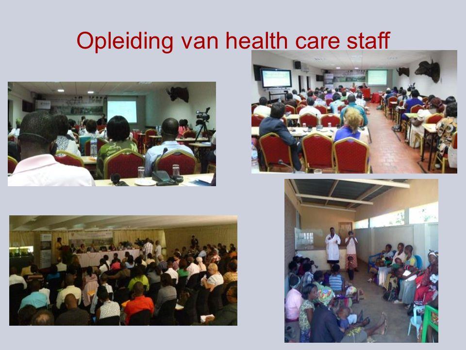 Opleiding van health care staff