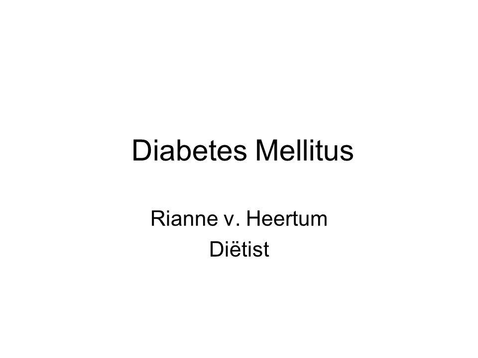Diabetes Mellitus Rianne v. Heertum Diëtist