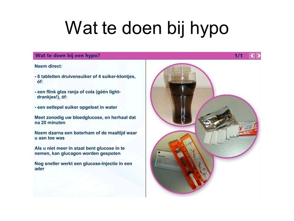 Wat te doen bij hypo