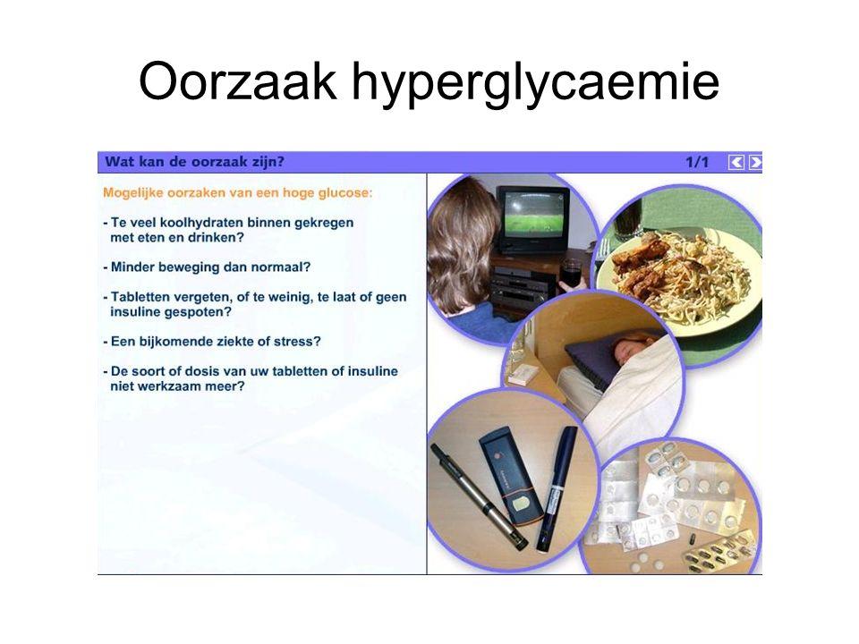 Oorzaak hyperglycaemie