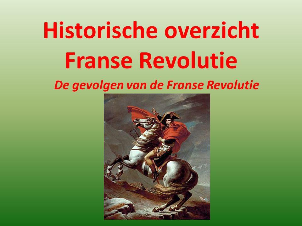 Historische overzicht Franse Revolutie De gevolgen van de Franse Revolutie
