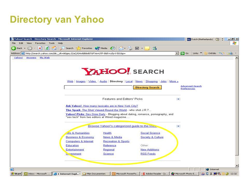 Directory van Yahoo