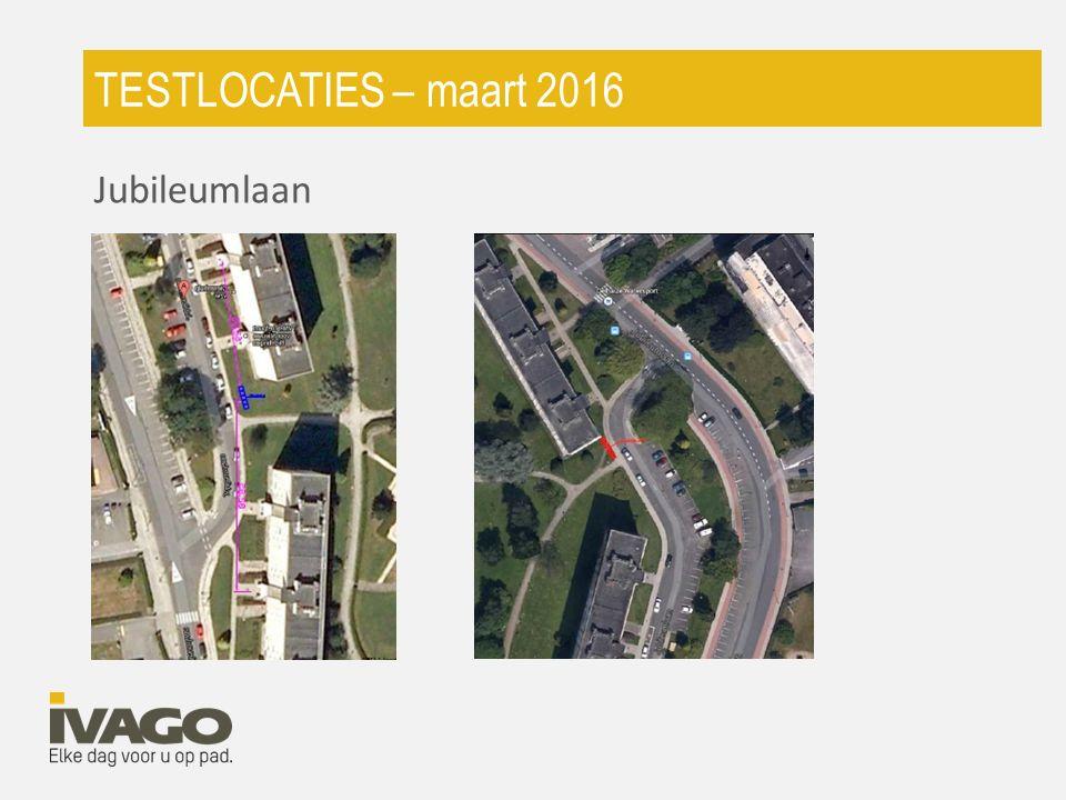 TESTLOCATIES – maart 2016 Jubileumlaan