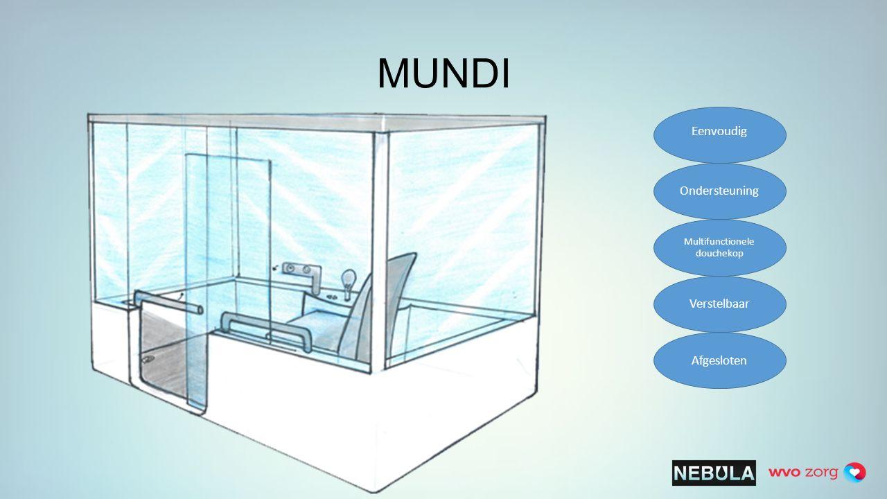 MUNDI Eenvoudig Ondersteuning Multifunctionele douchekop Verstelbaar Afgesloten