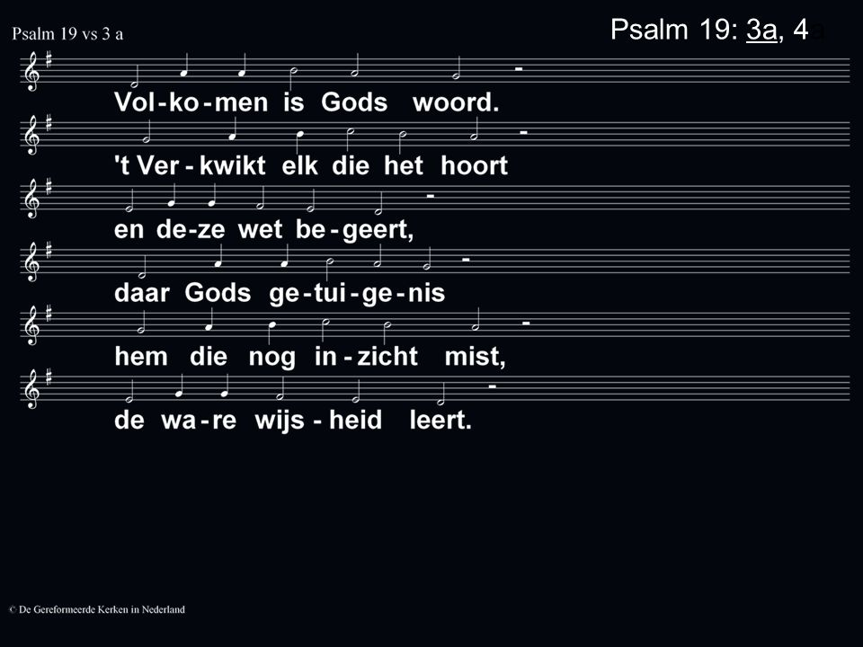 Psalm 19: 3b, 4a