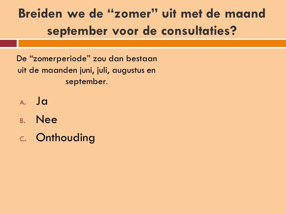 Breiden we de zomer uit met de maand september voor de consultaties.