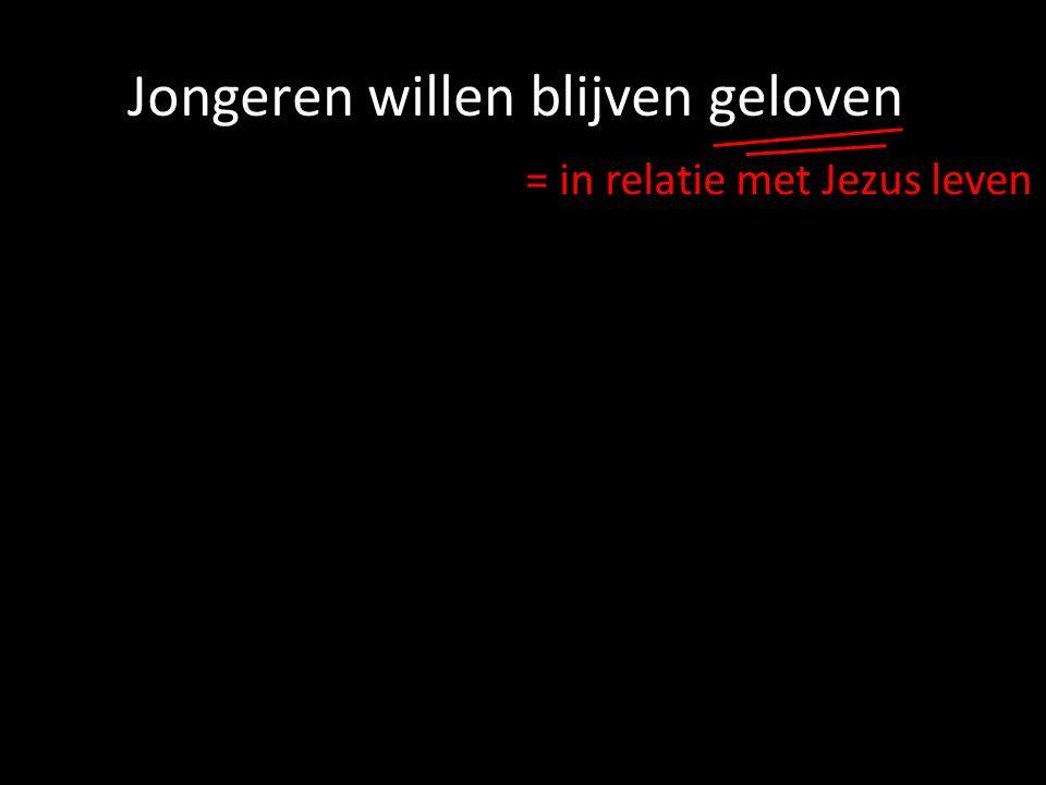 = in relatie met Jezus leven