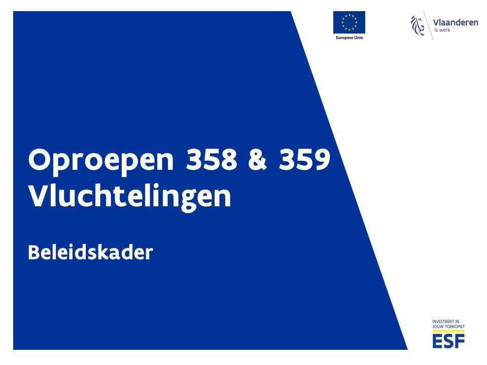 Oproepen 358 & 359 Vluchtelingen Beleidskader