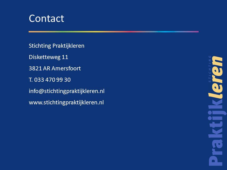 Stichting Praktijkleren Disketteweg 11 3821 AR Amersfoort T. 033 470 99 30 info@stichtingpraktijkleren.nl www.stichtingpraktijkleren.nl Contact