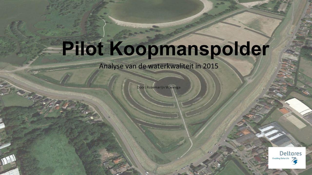 Pilot Koopmanspolder Analyse van de waterkwaliteit in 2015 Door: Rozemarijn Wielenga