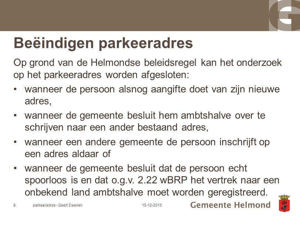 parkeeradres - Geert Deenen915-12-2015