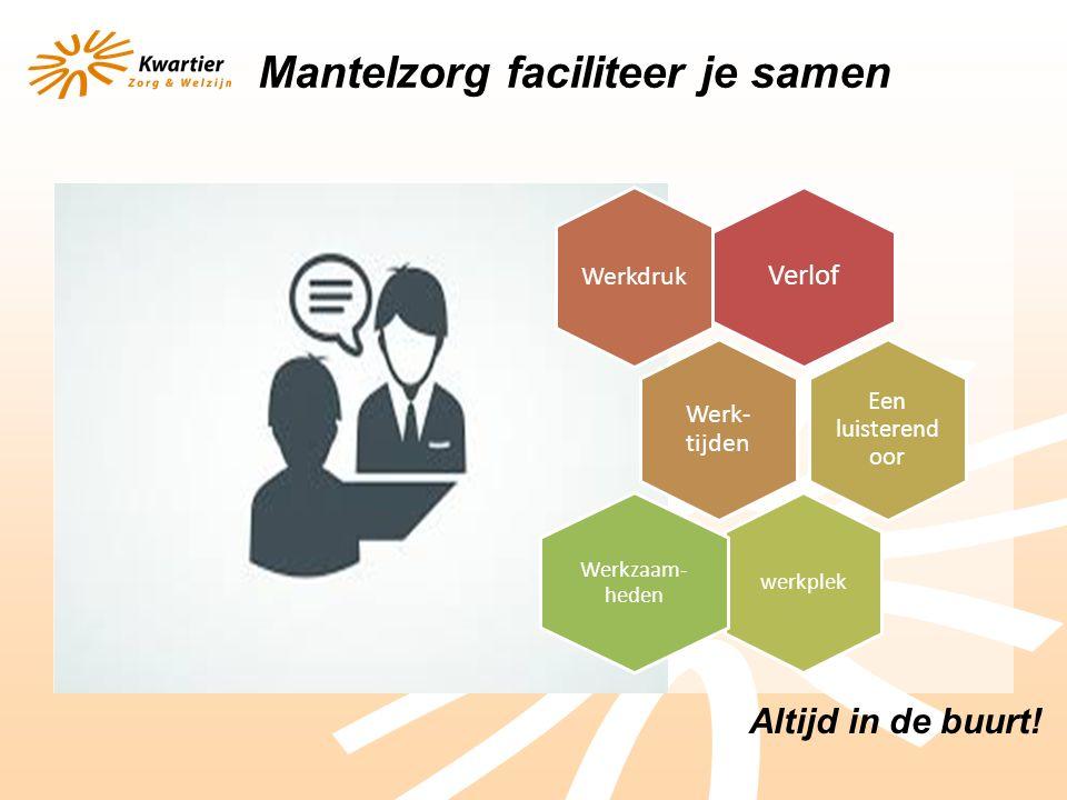 Altijd in de buurt.toelichting van onze Coördinator steunpunt Mantelzorg in het Management Team.