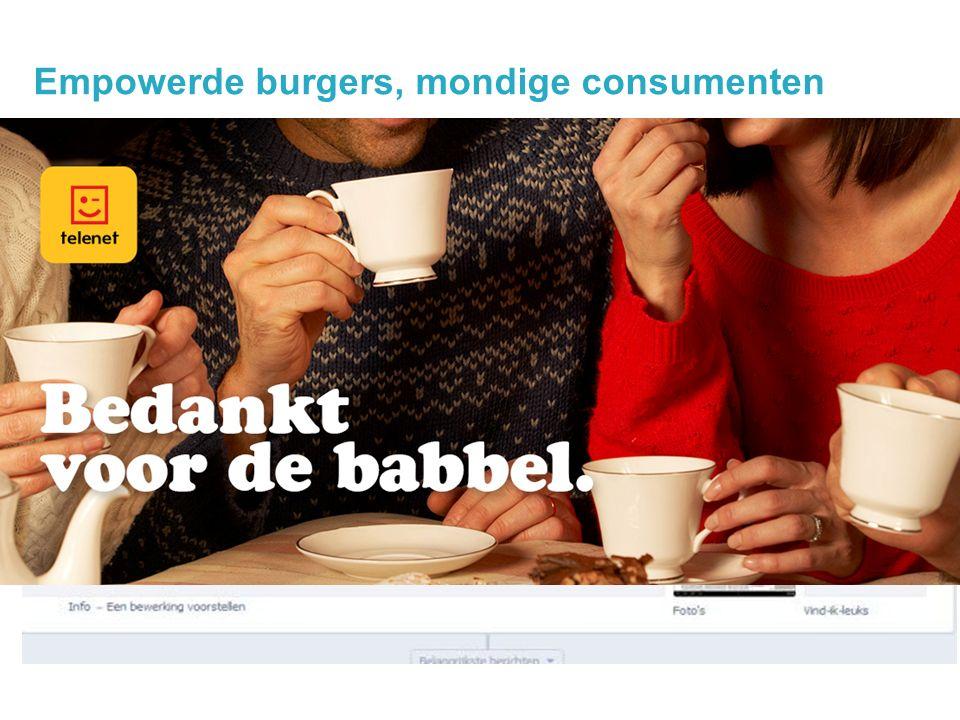 Empowerde burgers, mondige consumenten 14 @jochanantweets