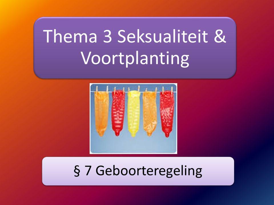 Thema 3 Seksualiteit & Voortplanting § 7 Geboorteregeling