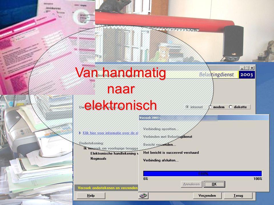 2009-2010Belasting19 Van handmatig naarelektronisch