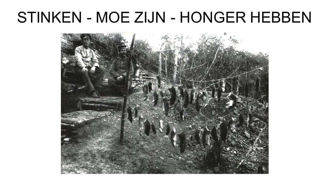 STINKEN - MOE ZIJN - HONGER HEBBEN