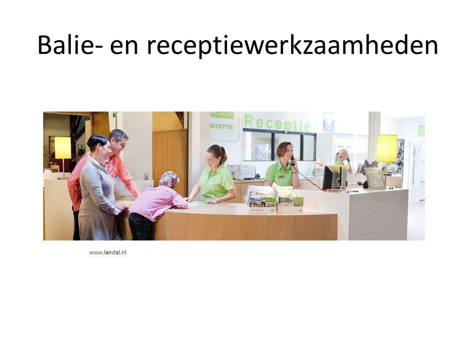 Balie- en receptiewerkzaamheden www.landal.nl
