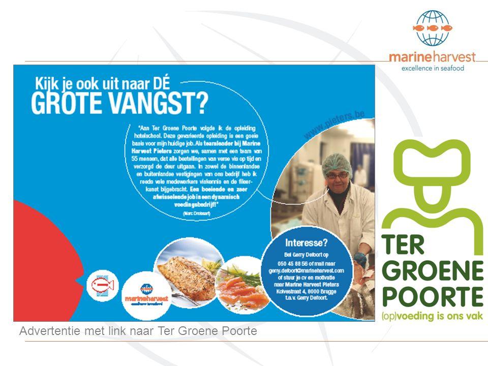 Advertentie met link naar Ter Groene Poorte